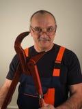 Старший работник с инструментом Стоковое фото RF