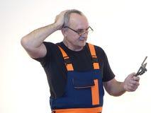 Старший работник с инструментом Стоковое Изображение RF