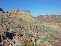 Старший свод колокола hikers на волю около Colora Стоковое Изображение RF