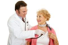 старший сердца здоровья медицинский Стоковые Фото