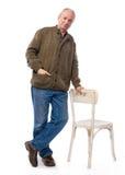 Старший усмехаясь человек Стоковое фото RF