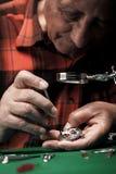 Старший часовщик Стоковая Фотография