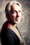 Старший человек в студии Стоковые Фотографии RF