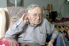 Старший человек делая жест Стоковая Фотография RF