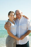 Старший человек и зрелая женщина совместно стоковое фото
