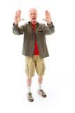 Старший человек останавливая с жестом рукой Стоковая Фотография RF