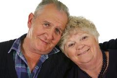 старший 3 пар счастливый Стоковые Фото