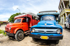 Старые автомобили Стоковая Фотография