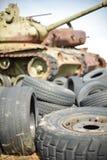 старые автошины Стоковое Изображение
