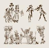 Старые актеры (установленный вектор) Стоковые Фото