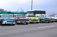 Старые американские автомобили стоковые фото