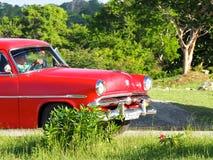 Старые американские автомобили в Кубе Стоковые Изображения