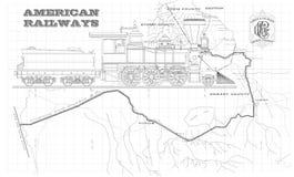 Старые американские железные дороги Стоковая Фотография