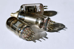 Старые лампы для ТВ Стоковая Фотография
