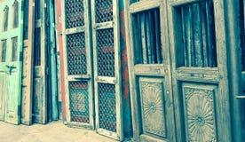 Старые античные двери Стоковая Фотография