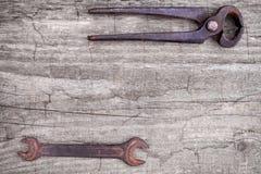 Старые античные инструменты механиков Стоковые Изображения RF