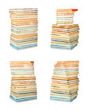 Старые античные книги на белизне изолировали предпосылку Стоковое Изображение RF