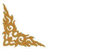 Старые античные стены штукатурки рамки золота Стоковое Изображение