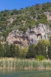 Старые античные усыпальницы королей Lycian Стоковая Фотография