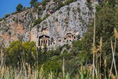 Старые античные усыпальницы королей Lycian Стоковая Фотография RF