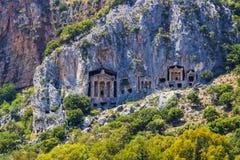 Старые античные усыпальницы королей Lycian Стоковые Изображения
