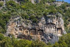 Старые античные усыпальницы королей Lycian Стоковое Изображение