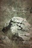 Старые археологические раскопки покинули стоковые изображения rf