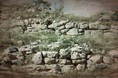Старые археологические раскопки покинули стоковое изображение rf