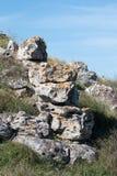 Старые археологические раскопки покинули стоковая фотография
