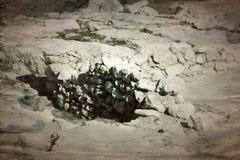 Старые археологические раскопки покинули стоковые фото