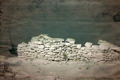 Старые археологические раскопки покинули стоковые изображения