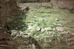 Старые археологические раскопки покинули стоковое фото