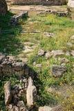 Старые археологические раскопки покинули стоковая фотография rf