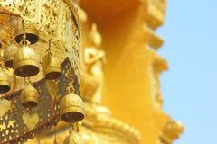 Старые латунные буддийские колоколы Стоковое Изображение