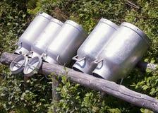 Старые банки молока Стоковое фото RF