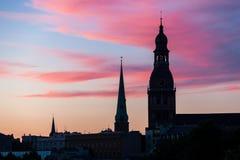 Старые башни Риги Стоковые Фото