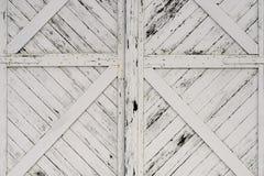 Старые белые деревянные двери Стоковое Изображение RF