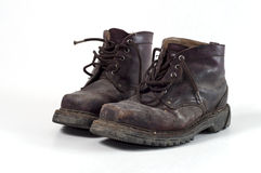 Старые ботинки армии Стоковое Изображение