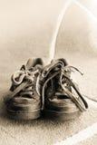 старые ботинки Стоковое фото RF