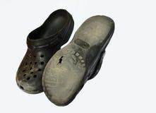 Старые ботинки Croc Стоковое Изображение