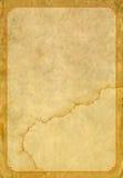 Старые бумага и рамка Стоковое Фото