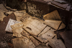 Старые бумаги покинули шахты Alquife Стоковое Фото