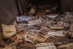 Старые бумаги покинули шахты Alquife Стоковое фото RF