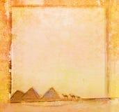 старые бумажные пирамидки Стоковое Изображение
