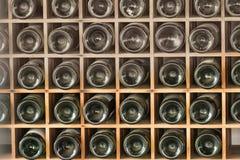 Старые бутылки красного вина Стоковые Фото