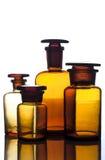 Старые бутылки медицины Стоковое фото RF