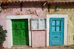 Старые двери дома в Лиссабоне Стоковое Изображение RF