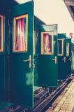Старые двери поезда стоковые фото