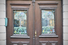 Старые двери, ручки, замки, решетки и окна Стоковая Фотография RF