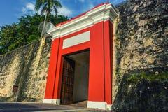 Старые двери Сан-Хуана Стоковое фото RF